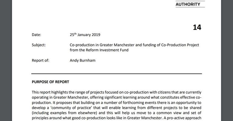 Snapshot: Andy Burnham's report to the GMCA