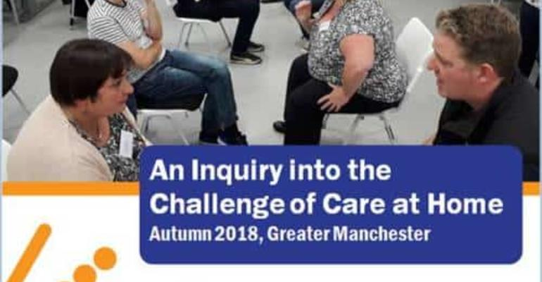 Care at Home - the cover of the report showing an image from the inquiry