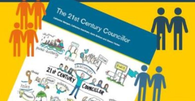 Detail from the cover of the Councillors and Communities initial report